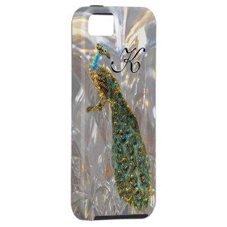 Peacock Glam Elegant Monogram iPhone 5 Covers