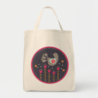Peacock Grocery Tote Bag