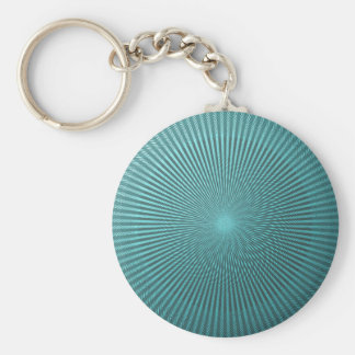 Peacock Illusion Basic Round Button Key Ring