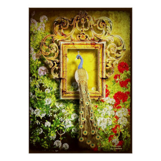 peacock in frame poster FROM 14.95