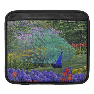 Peacock in Spring Flowers iPad Sleeves