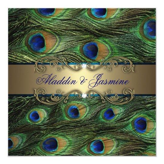 Peacock Indian Wedding Card