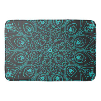 Peacock inspirations bath mat