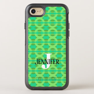 Peacock Inspired Chain Link Pattern OtterBox Symmetry iPhone 8/7 Case
