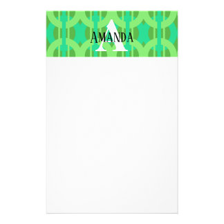 Peacock Inspired Chain Link Pattern Stationery