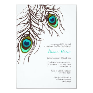 PEACOCK Invitation - Wedding, Birthday & More