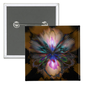 Peacock Iris Button
