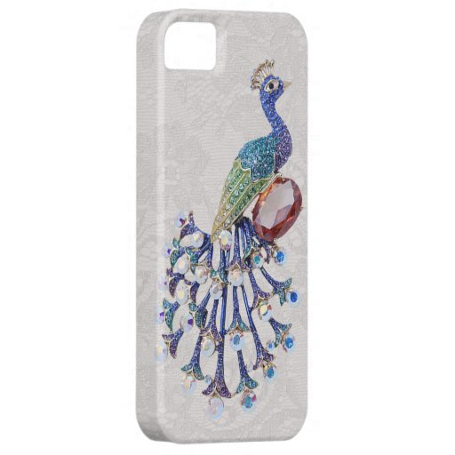Peacock Jewel Image Paisley Lace Photo iPhone 5 Case