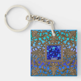 Peacock Jewel Key Ring