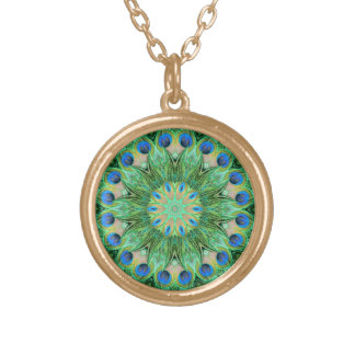 Peacock Kaleidoscope Pendant