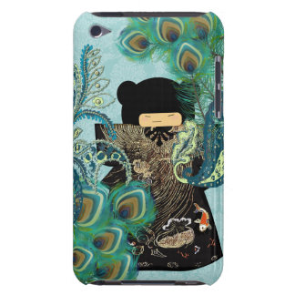 Peacock Kimono Doll  Damask iTouch Case Barely There iPod Case