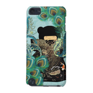 Peacock Kimono Doll  Damask iTouch Case iPod Touch 5G Cases