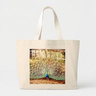 Peacock, Large Tote Jumbo Tote Bag