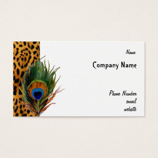 Peacock Leopard Business Card
