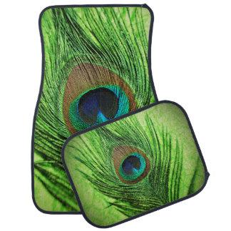 Peacock Lime Green Floor Mat