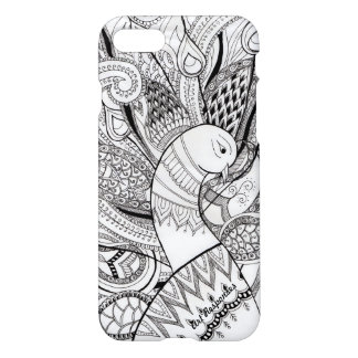 Peacock lines and designs iPhone 8/7 case