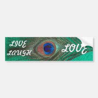 Peacock Live,Laugh,Love Bumper Sticker
