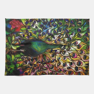 Peacock Majestic Hand Towels