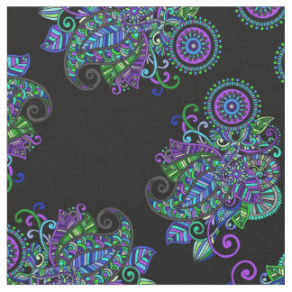 Peacock Mandala Fabric