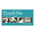 PEACOCK MODERN THANKS | WEDDING THANK YOU CARD PHOTO CARDS