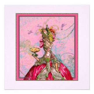 Peacock n Marie Antoinette Cakes Invitation