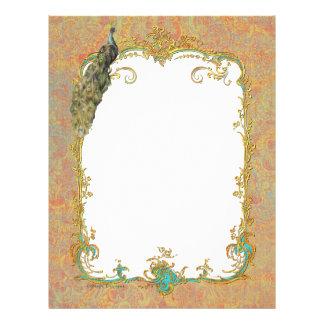 Peacock n Paisley Ornate Art Print Cards 21.5 Cm X 28 Cm Flyer