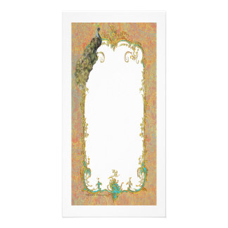 Peacock n Paisley Ornate Art Print Cards Picture Card