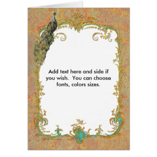 Peacock n Paisley Ornate Note Greeting Cards