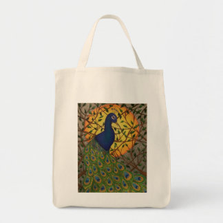 """Peacock of the Night"" Tote Bag"