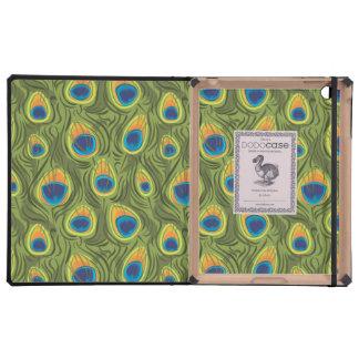Peacock Pattern iPad Folio Case
