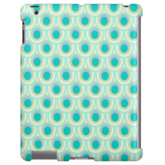Peacock pattern mint aqua green ipad case