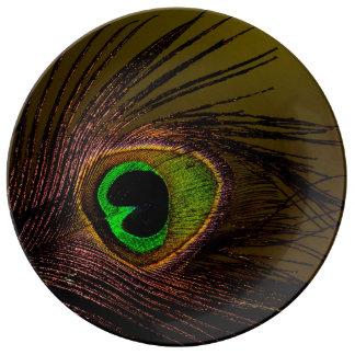 Peacock Peafowl Bird Porcelain Plate