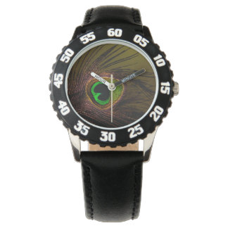 Peacock Peafowl Bird Wristwatch