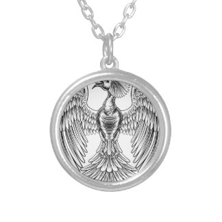 Peacock Phoenix bird design Silver Plated Necklace