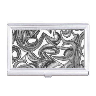 Peacock Plumage - Abstract Art Pattern Business Card Holders