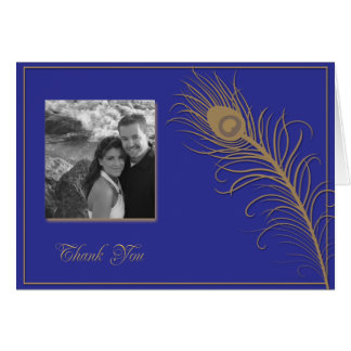Peacock Plume Thank You card