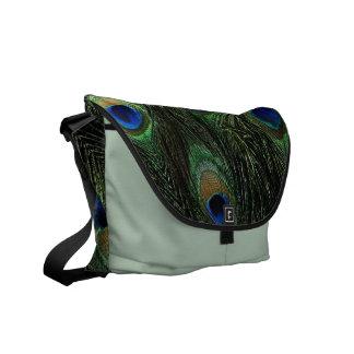 Peacock Print Rickshaw Messenger Bag