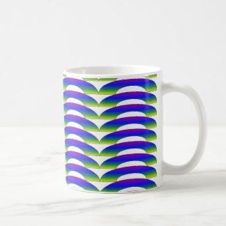 Peacock Ripple Mugs
