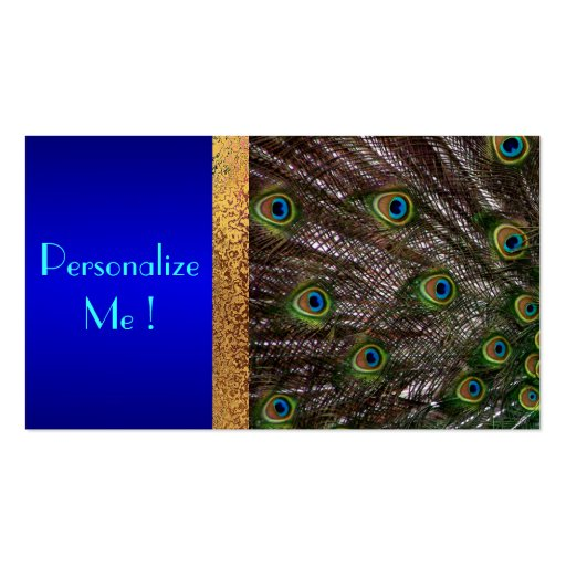 Peacock Save the Date Modern Elegant Chic Bride Business Card