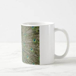 Peacock Showoff Basic White Mug