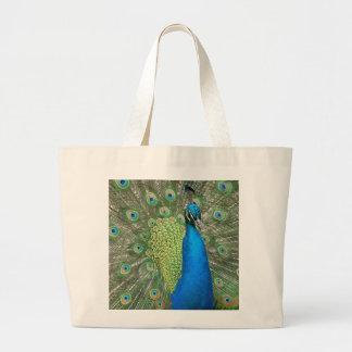 Peacock Strut Large Tote Bag