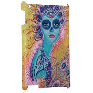 Peacock Sugar Skull Art Cover For The iPad
