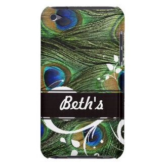 Peacock Swirls Barely There iPod Case