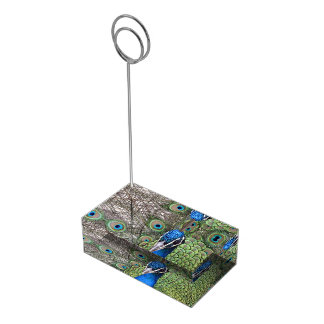 Peacock Table Card Holder