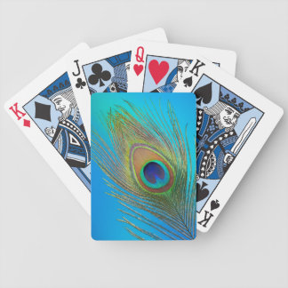Peacock Tail Feather Bicycle Playing Cards