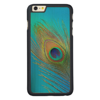Peacock Tail Feather Carved Maple iPhone 6 Plus Case