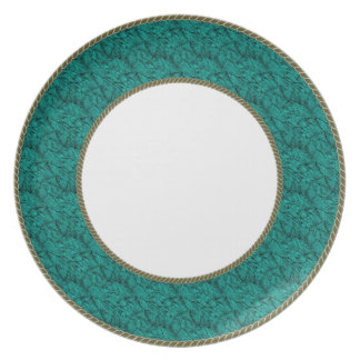 Peacock-Teal-Beautiful-Everyday-Dinnerware Plate