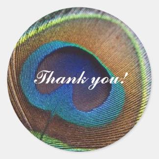 Peacock Thank You Sticker