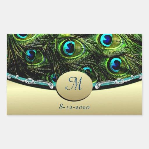 Peacock  Theme Wedding Envelope Seals Stickers