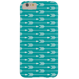 Peacock Turquoise Arrows Pattern Barely There iPhone 6 Plus Case